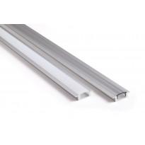 Asennusprofiili Airam Slimline 7 R Apus II LED-nauhalle, uppoasennus, opaali, 2m