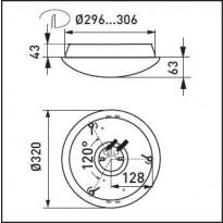 Tunnistinvalaisin Ensto AVR320 - AVR320 IP44 2xTC-DE18W E PC O