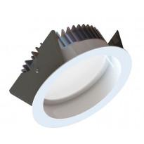 Alasvalo LED Fluxe 185HV, 20W, 1250lm 4000K, Ø230mm, valkoinen