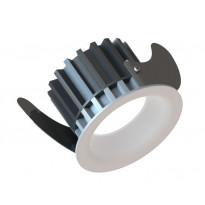 Alasvalo LED Linea 75HV, 9W, 400lm 3000K, Ø90mm, valkoinen