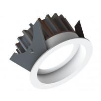 Alasvalo LED Fluxe 75HV, 11W, 600lm 3000K, Ø90mm, valkoinen