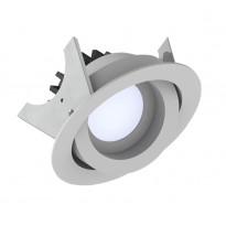 Alasvalo LED Fluxe 90HV, 11W, 600lm 3000K, Ø105mm, suunnattava, valkoinen, Verkkokaupan poistotuote