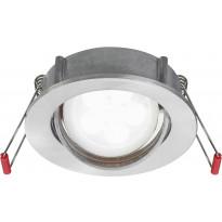 LED-alasvalo Lumiance Inset Trend S Wing 36°, himmennettävä, IP23, GU10, harjattu alumiini