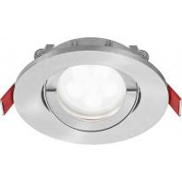 LED-alasvalo Lumiance Inset Trend S Wing 36°, himmennettävä, IP44, GU10, harjattu alumiini