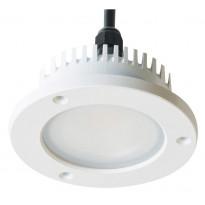 LED-alasvalo Slim 20W, IP65, 4000K, 1030lm, Ø195x77mm, valkoinen