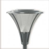 LED-pylväsvalaisin Ensto Opera Deco OPD530L20HH, 20W/840, helmenharmaa, akryylikuvulla
