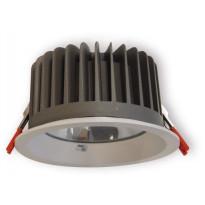 LED-alasvalo Ensto OPUS OPU45LWH, IP65, 4500lm, 840, valkoinen, karkaistulla lasikuvulla, ulkokäyttöön