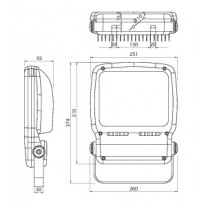 Valonheitin Airam LED FLOOD - LED FLOOD IP65 70W/840
