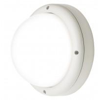 LED-ulkoseinävalaisin Airam Cestus Round, 20W/840, Ø261x140mm, IP65, valkoinen/opaali