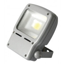 LED-valonheitin Airam Led Flood, 50W/840, 374x251x93mm, IP65, harmaa/huurrettu lasi