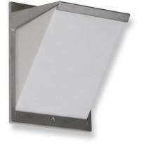 LED-ulkoseinävalaisin Ensto AVR8 eWay, IP44, 9W/830, alumiini, polykarbonaattikuvulla