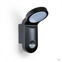 Seinävalaisin Esylux AOL 100 LED 5K 103.5x143x205 mm liiketunnistimella musta