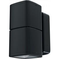 LED-seinävalaisin Lumiance Inverto, 30W, 4000K, IP65, musta
