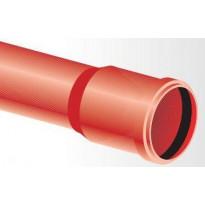 Kaapelinsuojaputki punainen TEL OPTO B 100x3,0x6000