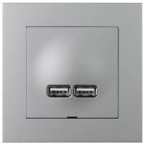 USB-latauspistorasia ELKO Plus, 2,1A, alumiini