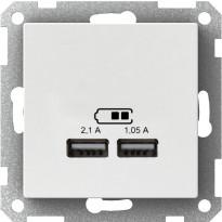 USB-latauspistorasia 2,1A valkoinen Exxact
