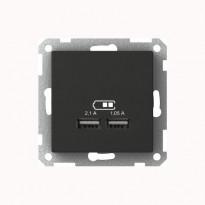 USB-latauspistorasia 2,1A antrasiitti Exxact