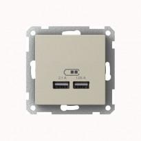 USB-latauspistorasia 2,1A metalli Exxact