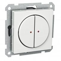 Pienjännitepainike 2-osainen 400mA 12-24V LED valkoinen Exxact
