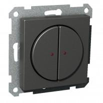 Pienjännitepainike 2-osainen 400mA 12-24V LED antrasiitti Exxact