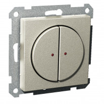 Pienjännitepainike 2-osainen 400mA 12-24V LED metalli Exxact