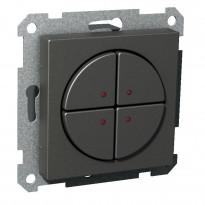 Pienjännitepainike 4-osainen 400mA 12-24V LED antrasiitti Exxact