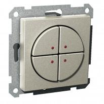 Pienjännitepainike 4-osainen 400mA 12-24V LED metalli Exxact