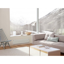 Sähköpatteri Nobö Glass 750W, 24x102cm, valkoinen
