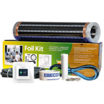 Lattialämmityskelmupaketti Ebeco Foil Kit 400, 40 cm lämmitysleveys, 65 W/m², 6m²