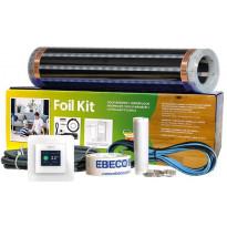 Lattialämmityskelmupaketti Ebeco Foil Kit 400, 40 cm lämmitysleveys, 65 W/m², 12-14m²