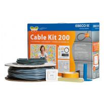Lämpökaapelipaketti Ebeco Cable Kit 200 124m 1380W