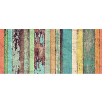 Valokuvatapetti Idealdecor, Colored Wooden Wall 8-osaa, 00966 366x254 cm, non-woven