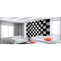 Valokuvatapetti Idealdecor, Black + White Squares 8-osaa, 00968 366x254 cm, non-woven
