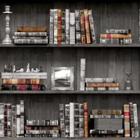 Tapetti Imaginarium 11951 Vintage Books, 0.53x10.05 m, monivärinen paperitapetti