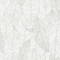 Tapetti ESTA Jungle Fever 139009, 0.53x10.05m, non-woven, vihreä/valkoinen