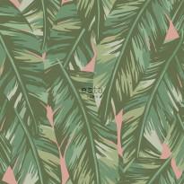 Tapetti ESTA Jungle Fever 139015, 0.53x10.05m, non-woven, vihreä/vaaleanpunainen