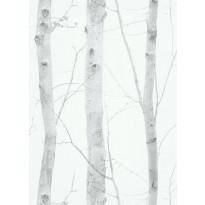 Tapetti Tapetit.fi Nordic Summer  178210, 0.53x10.05m, non-woven, valkoinen/harmaa