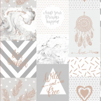 Glasshouse 90211 Wild and Free Grey/Rosegold