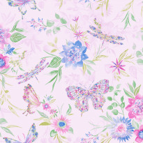 Tapetti Glasshouse 90262 Botanical Butterfly Pink, 0,53x10,05m, monivärinen