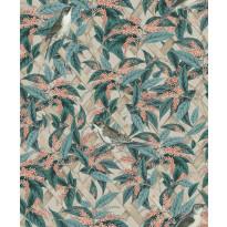 Tapetti Glasshouse 90333 Brassica Apricot/Gilver, 0,53x10,05m, monivärinen