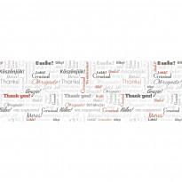 Välitilatarra Dimex Thank you, 180-350x60cm