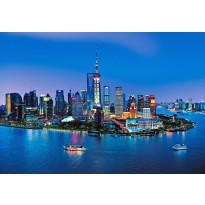 Valokuvatapetti 00135 Shanghai Skyline 8-osainen 366x254 cm