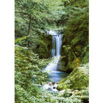 Valokuvatapetti 00364 Waterfall in Spring 4-osainen 183x254 cm