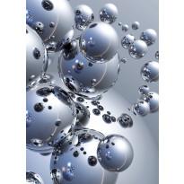 Valokuvatapetti 00413 Silver Orbs 4-osainen 183x254cm