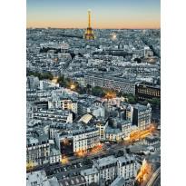 Valokuvatapetti 00434 Paris Aerial View 4-osainen 183x254cm