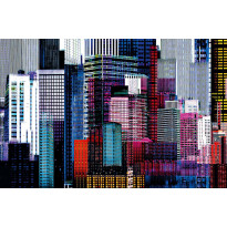 Juliste Giant Art 00641 Colourful Skyscrapers 175x115cm
