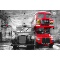 Juliste Giant Art 00698 Taxi and Bus 175x115 cm