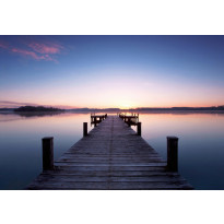 Valokuvatapetti 00953 Pier at Sunrise 8-osainen non-woven 366x254cm