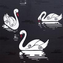 Tapetti Inspired Swan 1220170 0,53x10,05 m musta non-woven