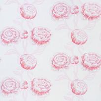 Tapetti Inspired Delight Peony 1220415 0,53x10,05 m valkoinen/vaaleanpunainen non-woven